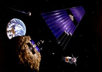 Drone Space Mining